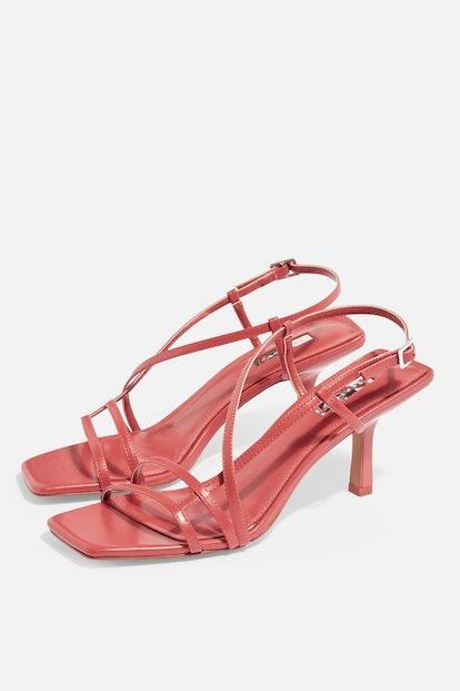 STRIPPY Coral Heeled Sandals