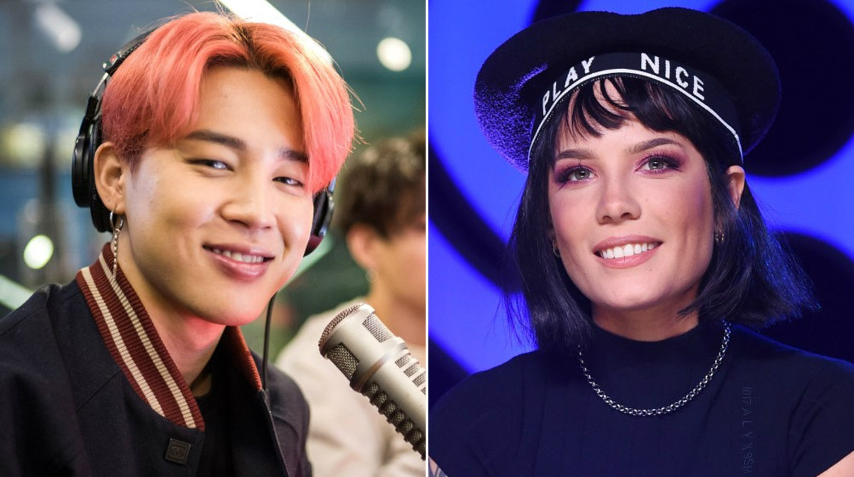 BTS' Jimin's Reaction To Halsey Looking Him In The Eye On iHeartRadio Live Was So Endearing