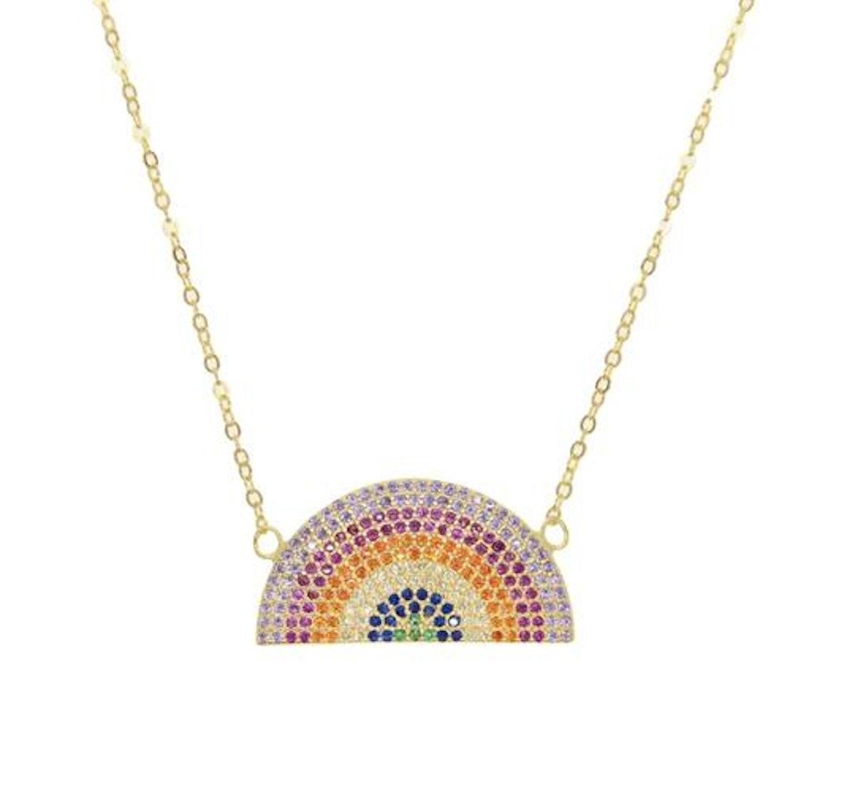 Rainbow Pave Necklace