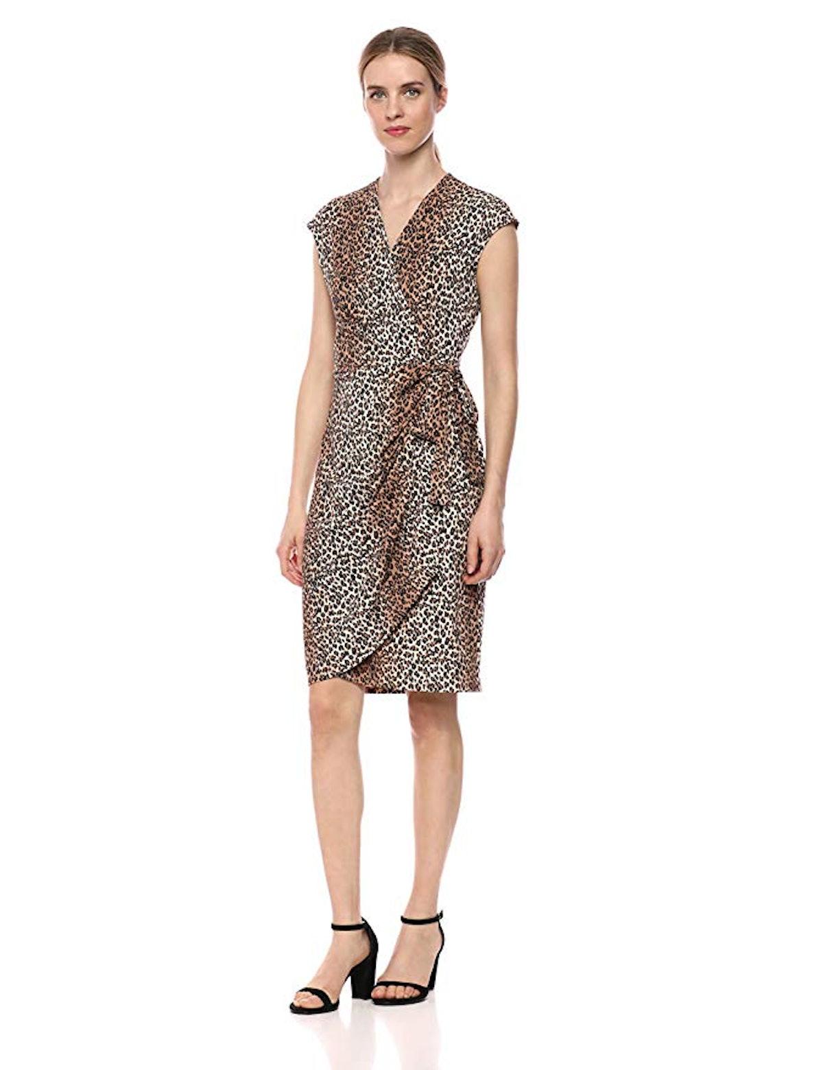 Lark & Ro Women's Classic Cap Sleeve Wrap Dress