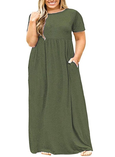 Nemidor Short Sleeve Maxi Dress (14-26)