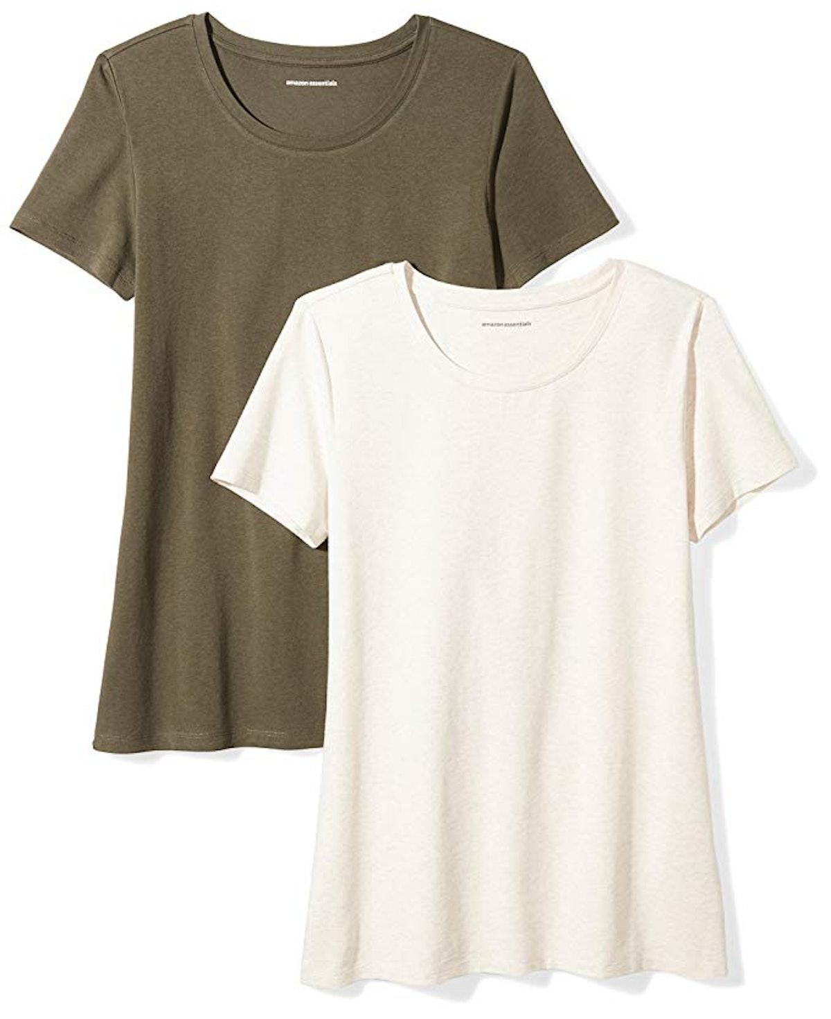 Amazon Essentials Women's Crewneck T-Shirts (2 Pack)
