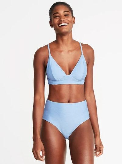Textured Bralette Swim Top