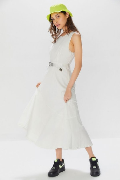 UO Linen Sleeveless Midi Dress