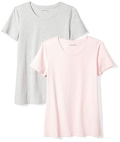 Amazon Essentials Women's Short-Sleeve Crewneck T-Shirt (2 Pack; XS- XXL)