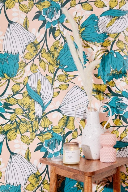 Tropical Bloom Removable Wallpaper