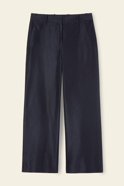 Cotton Silk Taffeta Straight Pant