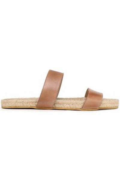 Jonah leather espadrille slides