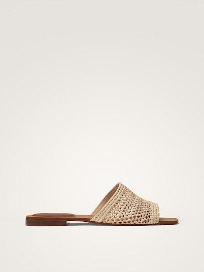 Raffia Flat Sandals