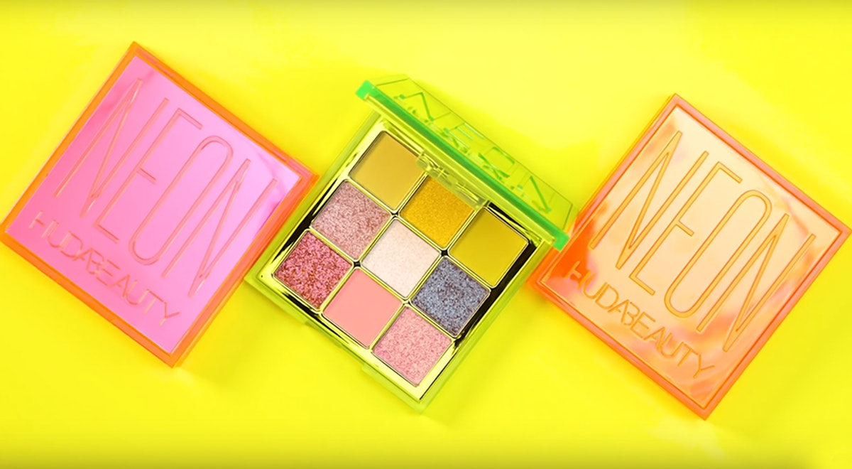 When Do The Huda Beauty Neon Obsessions Palettes Drop? These 3 Color Stories Pack Quite A Punch