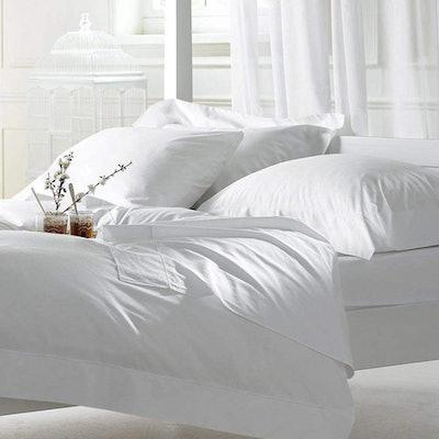 Linen Souq Premium Organic Cotton 800 Thread Count 4-Piece Sheet Set - Queen