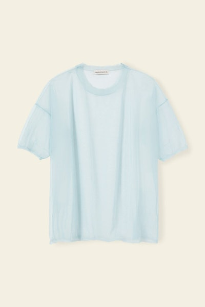 Sheer Nylon Short Sleeve Crewneck