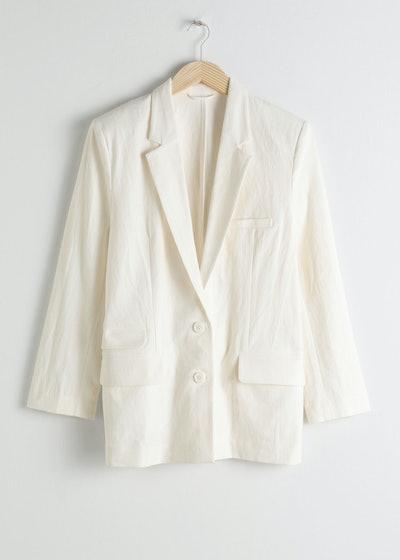 Oversized Cotton Linen Blazer