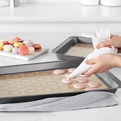 AmazonBasics Silicone Macaron Baking Mats (Set of 2)