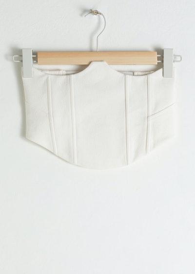 Linen Blend Corset Top