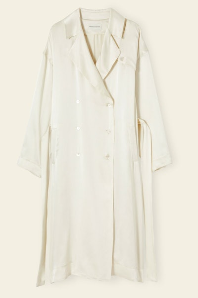 Silk Charmeuse Flowy Trench