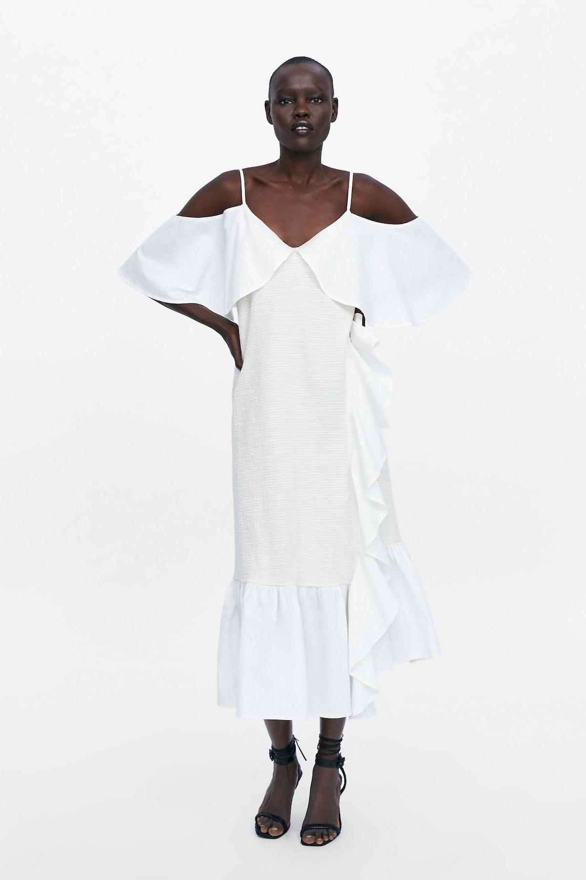RUSTIC RUFFLED DRESS