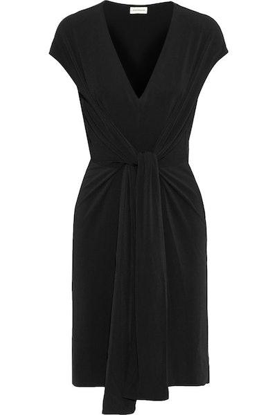 Knotted Stretch-Jersey Dress