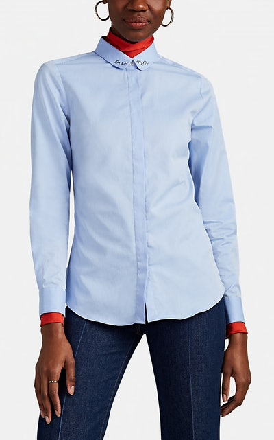 Claudine Embroidered Cotton Blouse