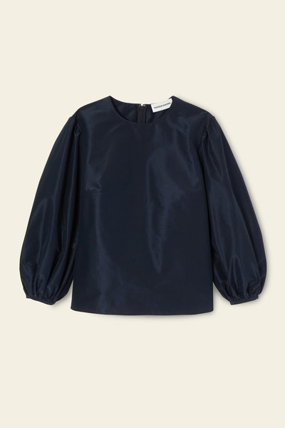 Taffeta Voluminous Sleeve Blouse