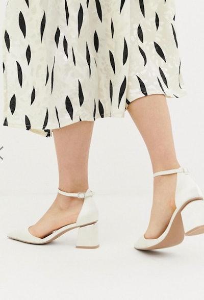 Be Mine Bridal Anya Ivory Satin Mid-Heeled Shoe