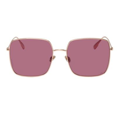 Rose Gold & Purple DiorStellaire1 Sunglasses