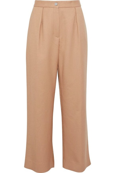 Paige Pleated Twill Culottes