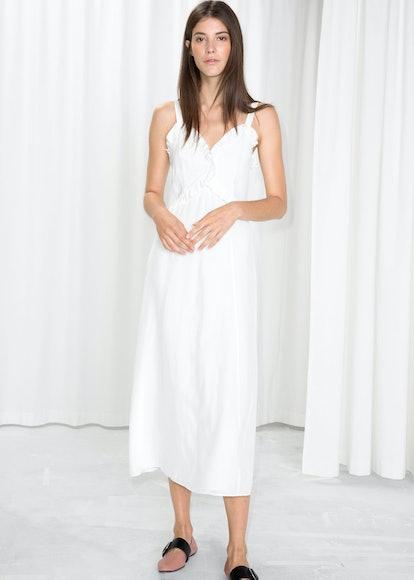 Sweetheart Ruffle Midi Dress