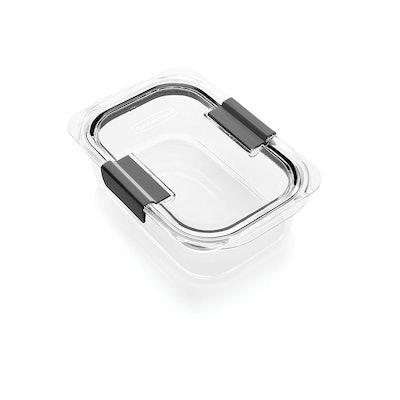 Rubbermaid Brilliance Food Storage Container, 100% Leak-Proof, Medium (3.2 Cup)