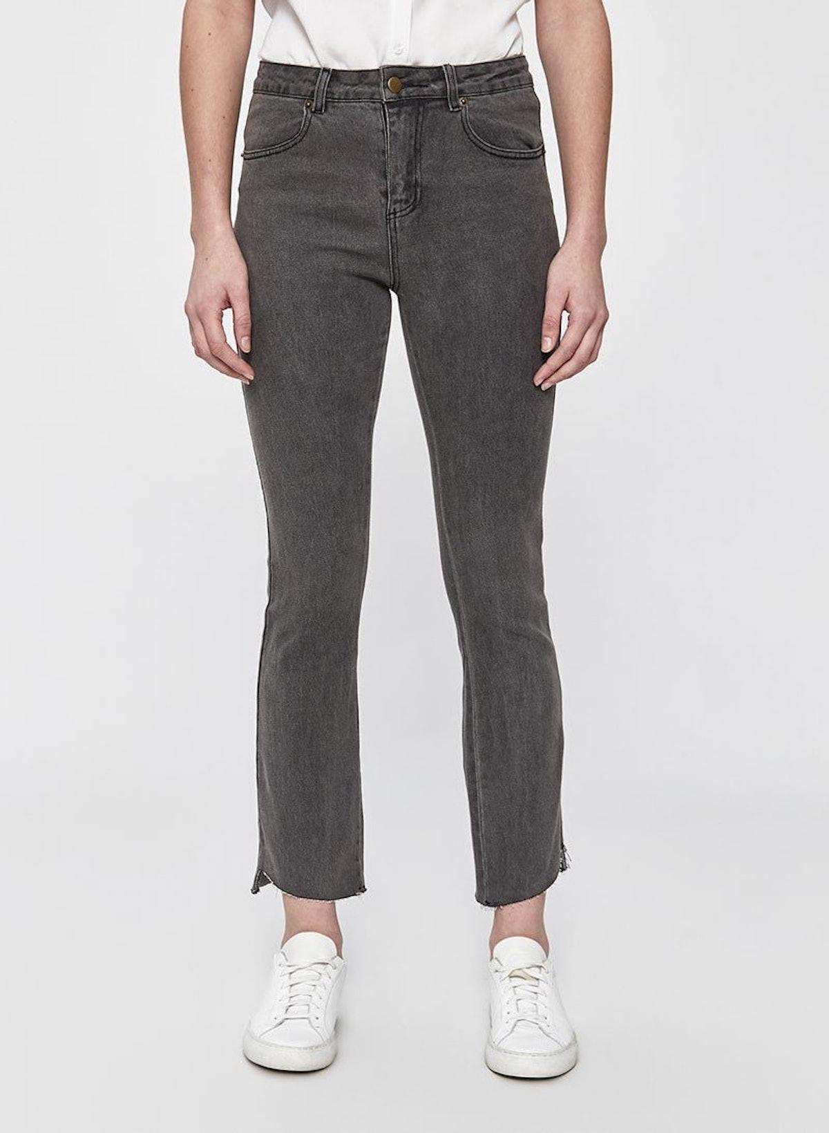 Lola Cropped Skinny Jean In Grey