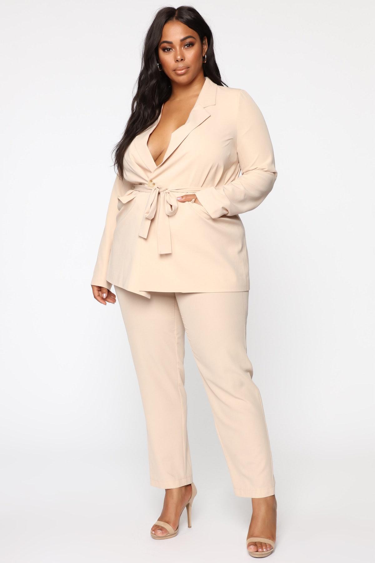 Look Ya Best Suit Set - Taupe