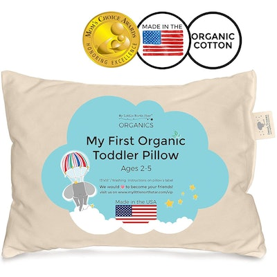 My Little North Star Toddler Pillow Organic Cotton Washable Kids Pillow (13x18)