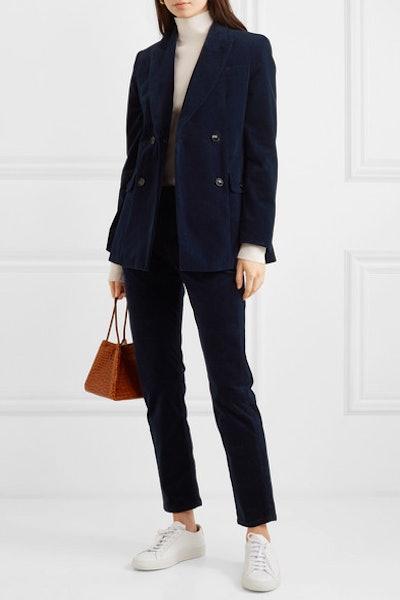 Moore Cotton-Blend Corduroy Double-Breasted Blazer & Kemp Slim-Leg Pants