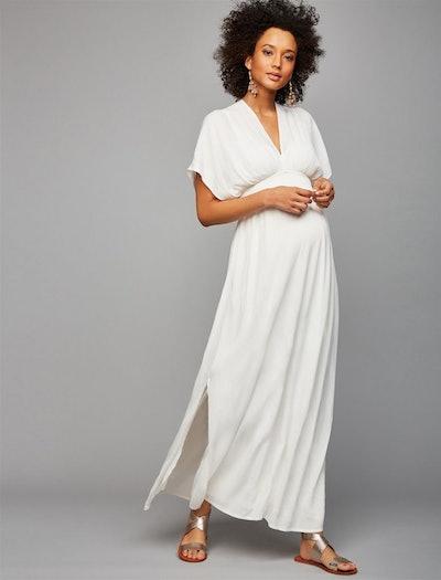 Gauze Maternity Maxi Dress