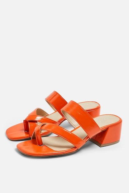 DARCY Red Toe Loop Sandals