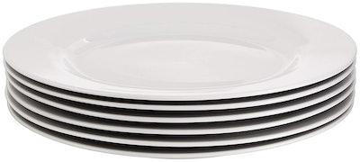 AmazonBasics 6-Piece Dinner Plate Set