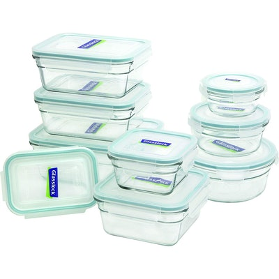 Glasslock 11292 Assorted Oven-Safe Container Set (18-Piece)