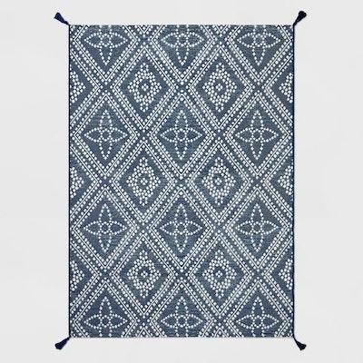Dot Diamond Outdoor Rug Blue - Threshold™