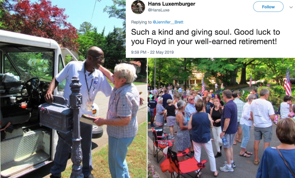 This Viral Thread About A Mailman's Retirement Party Will Put You In Your Feels
