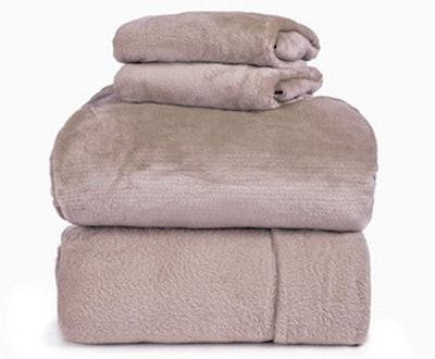Spyder Insulated Warm Fleece Flannel Plush Sheet Set
