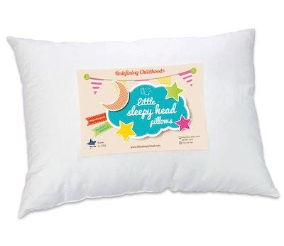 Little Sleepy Head Toddler Pillow, White, (13 x 18)