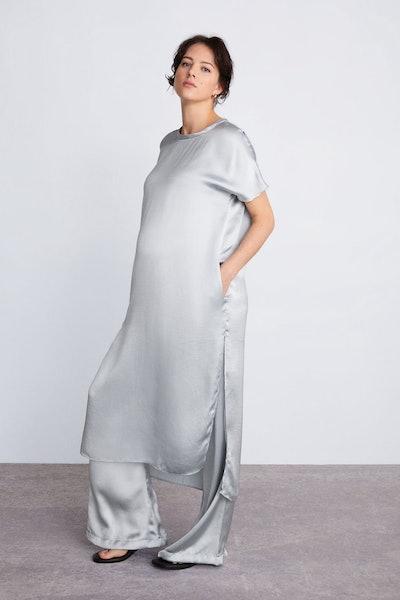 Satin Maternity Dress