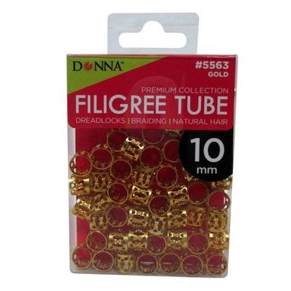 Gold Filigree 10MM Tube