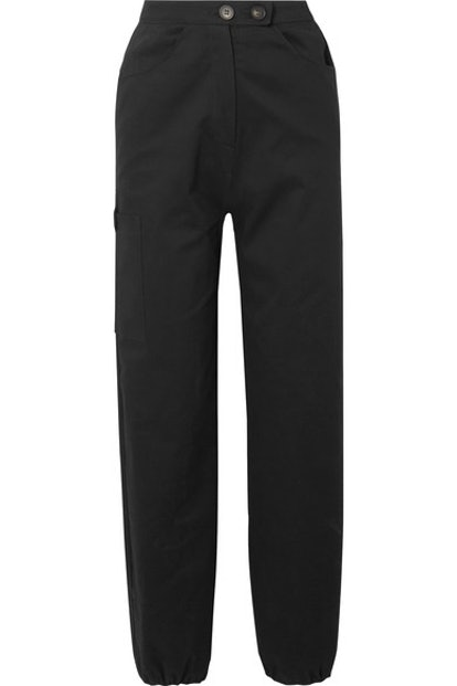 Cotton-Blend Twill Cargo Pants