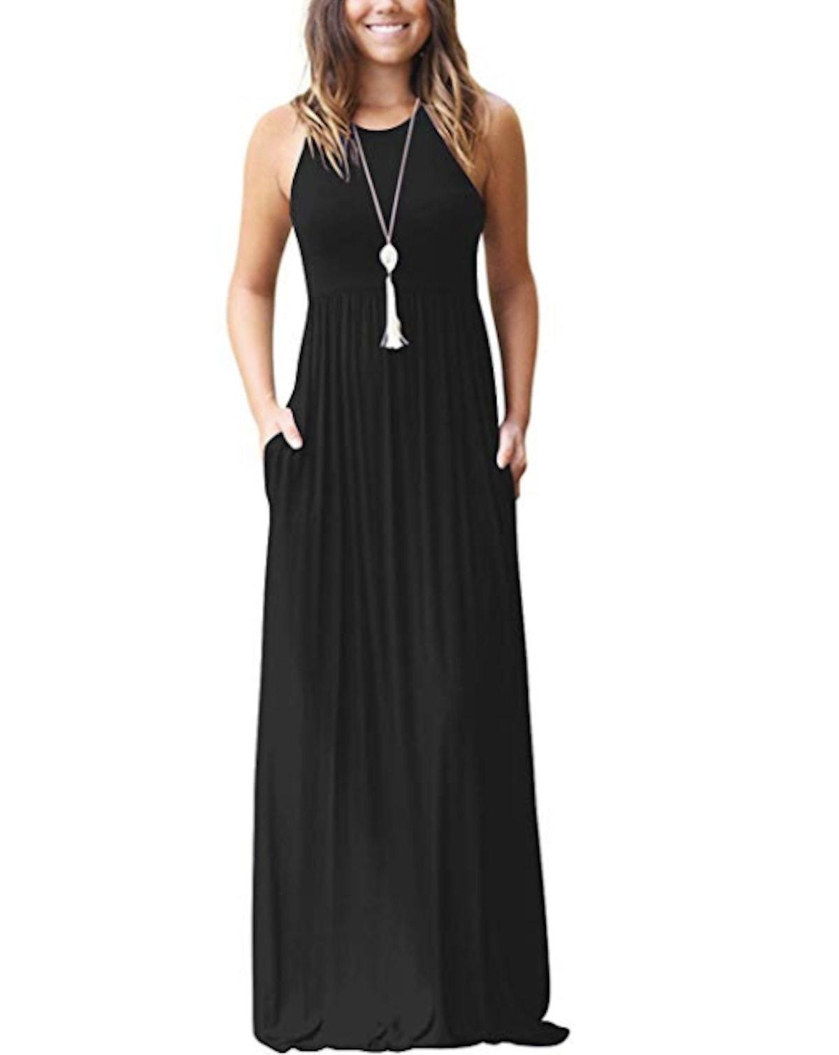 GRECERELLE Women's Sleeveless Racerback Dress
