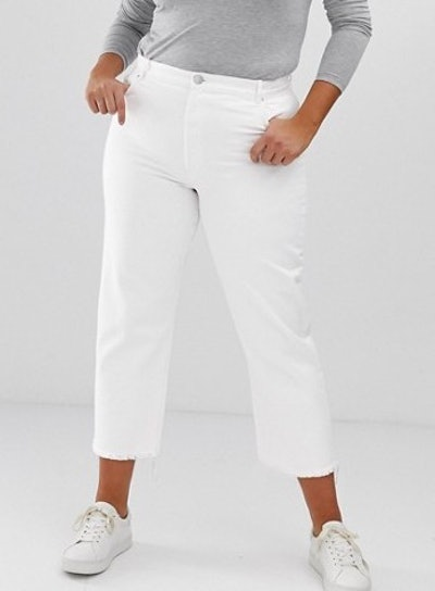 Florence Authentic Straight Leg Jeans In Bone Chalky White