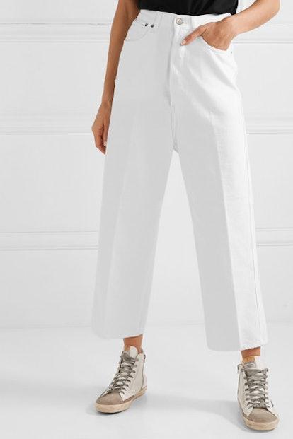 Breezy High-Rise Straight-Leg Jeans
