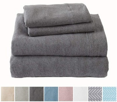 Great Bay Home Extra Soft Heather Jersey Knit Cotton Sheet Set