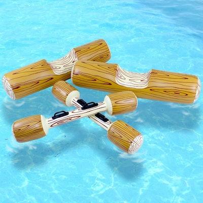 Swimline Log Flume Joust Pool Float Set