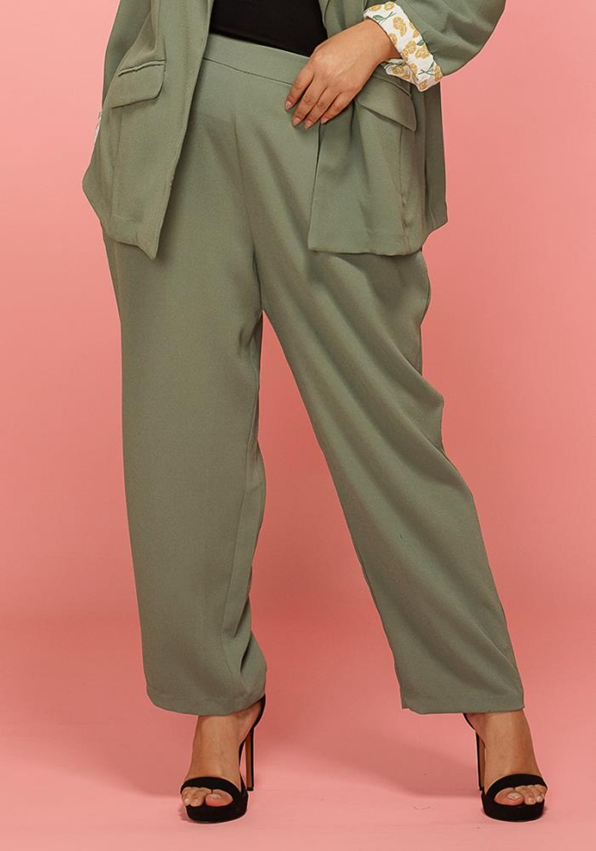 Asoph Plus Size Wide Leg Comfy Trouser